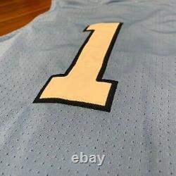 Nike Air Jordan Unc Carolina Tar Heels #1 Stitched Basketball Jersey Taille M