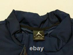 Nike Air Jordan Unc Tarheels Tech Puffer Veste Bleu Marine Standard Fit Taille L