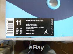 Nike Air Jordan XI 11 Win Like'82 82 Unc Tar Talons De Caroline Du Nord Sz 11 Ds