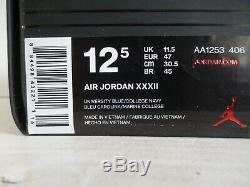 Nike Air Jordan XXXII 32 Unc Caroline Du Nord Tarheels 12.5 Aa1253-406