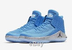 Nike Air Jordan XXXII 32 Unc Roues De La Caroline Du Nord Sz 8-13 Hommes Aa1253-406 Ds