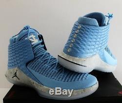 Nike Air Jordan XXXII 32 Unc Tarheels Université Nc Bleu Sz 14 Aa1253-406