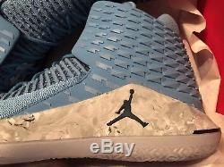 Nike Air Jordan XXXII 33 Unc Tarheels Nc Université Bleu Aa1253 406 Taille 13 Nouveau