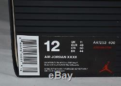 Nike Air Jordan XXXII Chaussures Tar Talons Unc Taille 12 Univ Bleu / Marine Aa1253-406