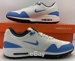 Nike Air Max 1 G Chaussures De Golf Unc Bleu Tarheels Ci7576-101 Tw Nrg Mens Taille 9.5