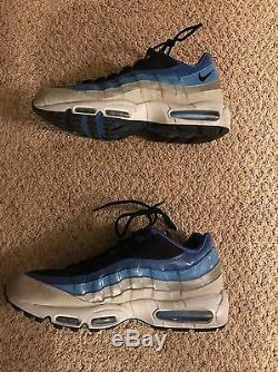 Nike Air Max 95 Baby Blue White Taille 13 Jordan Excellent Etat Unc Tarheels