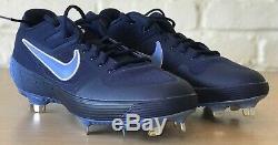 Nike Alpha Huarache Elite 2 Pe Unc Tarheels Métal Baseball Crampons Sz Homme. 10.5