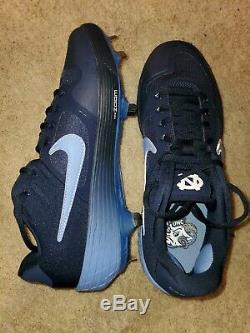 Nike Alpha Huarache Elite 2 Pe Unc Tarheels Métal Baseball Crampons Sz Homme 8.5