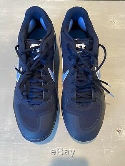 Nike Alpha Huarache Elite 2 Tar Heels Unc Baseball Crampons Av2470-403 Taille 12 Nouveau