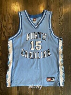 Nike Authentic Vince Carter #15 Unc Caroline Du Nord Tar Talons Jersey 48 XL