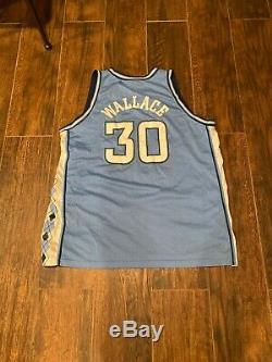 Nike Caroline Du Nord Tarheels Maillot De Basket Bleu # 30 Rasheed Wallace 3xl Unc