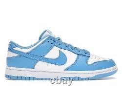 Nike Dunk Faible Unc University Blue Tar Talons Taille Us Hommes 10 10.0 Nouveau Avec Box