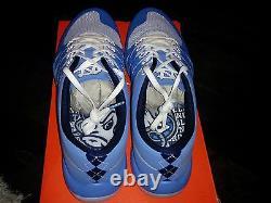 Nike Free 5.0 V6 North Carolina Blue Tarheels Unc Train Football Rare 7.5 8.5 13