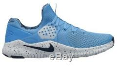 Nike Gratuit Tr8 Unc North Carolina Tar Heels Logo Bleu Chaussures De Course Hommes Ar0407