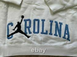 Nike Hommes Air Jordan X Unc Tar Talons Nrg Sweat À Capuche Blanc Bleu Taille XL Bv3954-100