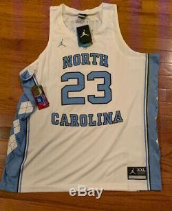 Nike Hommes Michael Jordan Unc Carolina Tar Heels Authentique Jersey 2xl Tn-o 150 $