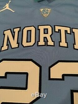 Nike Hommes Michael Jordan Unc Carolina Tar Heels Authentique Jersey Petit Nwt 150 $