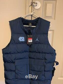 Nike Jordan College Aeroshield Vest Unc Tar Heels Sz Hommes Grand L Marine