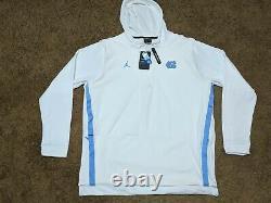 Nike Jordan Half Zip Short Sleeve Fleece Hoodie Unc Tarheels Aq8933-100 Sz L