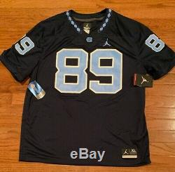 Nike Jordan Navy # 89 North Carolina Tar Heels Unc Football Jersey Nwt XL Hommes