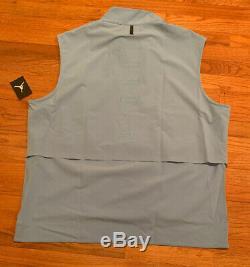 Nike Jordan Shield Unc Carolina Tar Heels 23 Tech 1/4-zip Jacket Vest Nwt 3xl