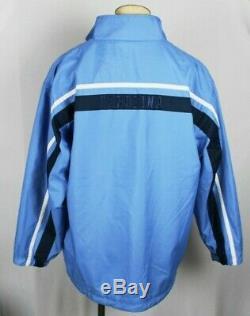 Nike Jordan Unc Caroline Du Nord Tarheels Réversible En Polaire Bleu Veste Sz XL Mens