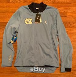 Nike Jordan Unc Hommes North Carolina Tar Heels Showtime Jacket Medium M Tn-o 150 $