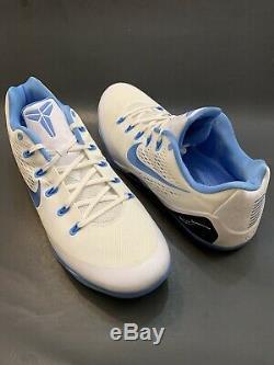 Nike Kobe 9 IX Em Tb 685776 142 No Unc Carolina Tar Heels Bleu Bryant Sz 18