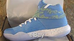 Nike Kyrie 2 Université Paisley Douanes Nike ID Unc Tarheels Deadstock Taille 11