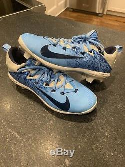 Nike Lunar Vapor Ultrafly Baseball Crampons 11 Unc Tar Heels 852686 044 Bleu Sz 11