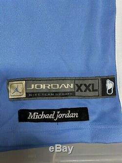 Nike Michael Jordan Caroline Du Nord Authentique Jersey Bleu Sz XXL Unc Tarheels