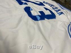 Nike Michael Jordan Caroline Du Nord Jersey Blanc Authentique Sz XXL Unc Tarheels