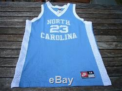 Nike Michael Jordan Caroline Du Nord Unc Tar Talons Authentic Jersey Sz. 48 XL Vtg