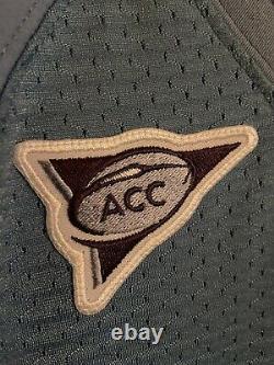 Nike North Carolina Tar Heels Unc Jeu Utilisé Football Jersey Bleu Caroline