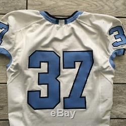 Nike North Carolina Tar Heels Unc Jeu Utilisé Football Jersey Sz. 42 Blanc Euc