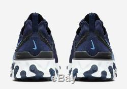 Nike React Element 55 Midnight Navy Royal Noir Blanc Unc Poudres Bq6166-400