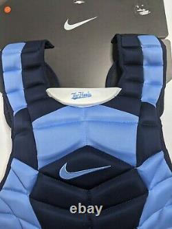 Nike Vapor Unc Tarheels Catchers Chest Protector Baseball/softball Size17 ̈ Bleu