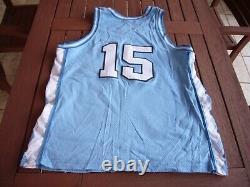 Nike Vince Carter Caroline Du Nord Unc Tar Heels Blue Authentic Jersey Sz. 48 Vtg