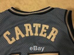 Nike Vince Carter Ncaa Unc North Carolina Tar Heels Bleu Jersey M Mesh Vintage