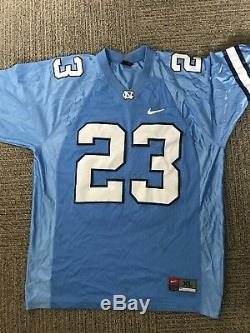 North Carolina Tar Heels - Maillot De Football # 23 Cousu Sur Bleu Nike Unc Taille XL