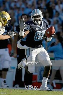 North Carolina Tar Heels Unc Jeu Maillot De Football Porté # 87 Sz40 Brandon Tate