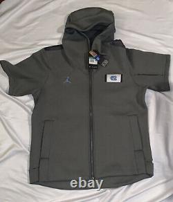 North Carolina Unc Tar Heels Nike Jordan Showout Ss Hoodie Jacket Nwt XL