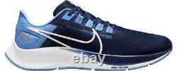 Nouveau 2021 North Carolina Tar Talons Nike Air Zoom Pegasus 38 Sneakers Chaussures Unc