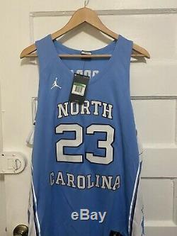 Nouveau Heels North Carolina Tar Unc Basketball Jersey Michael Jordan 23 Taille XL