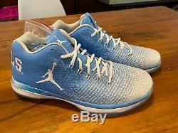 Nouveau Jordan 31 XXXI Bas Talons Unc Rat Bleu Caroline Sz 9.5 Nike Air 11 XI Du Nord