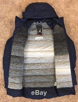 Nouveau! Manteau Nike Air Jordan Unc Tar Talons Aeroloft Parka En Maille Technique