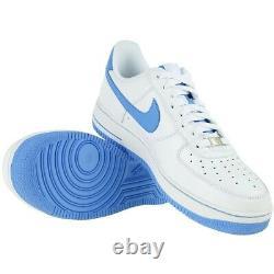 Nouveau Nike Air Force 1'07 Unc Tar Talon'université Bleu' Blanc Taille 14 315122-148