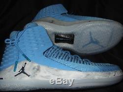 Nouvel Homme Bleu Nike Air Jordan XXXII Unc Tar Heels Caroline Du Nord Nc Aa1253-406