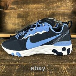 Nouvelle Nike Homme React Element 55 Unc Tarheels Blue Ck4852-400 Chaussures Taille 8