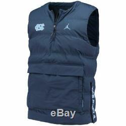 Nwt Carolina Tar Heels Unc Nike Jordan Protect Shield 1/2-zip Pull Gilet 2xl